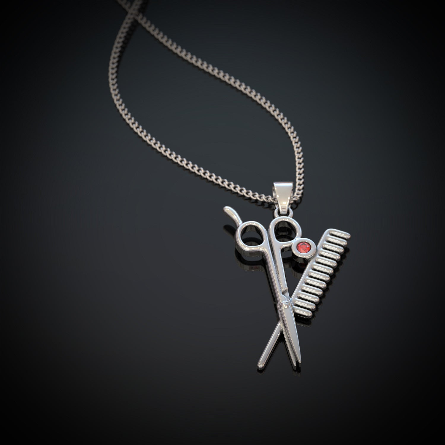 Scissor Comb Necklace