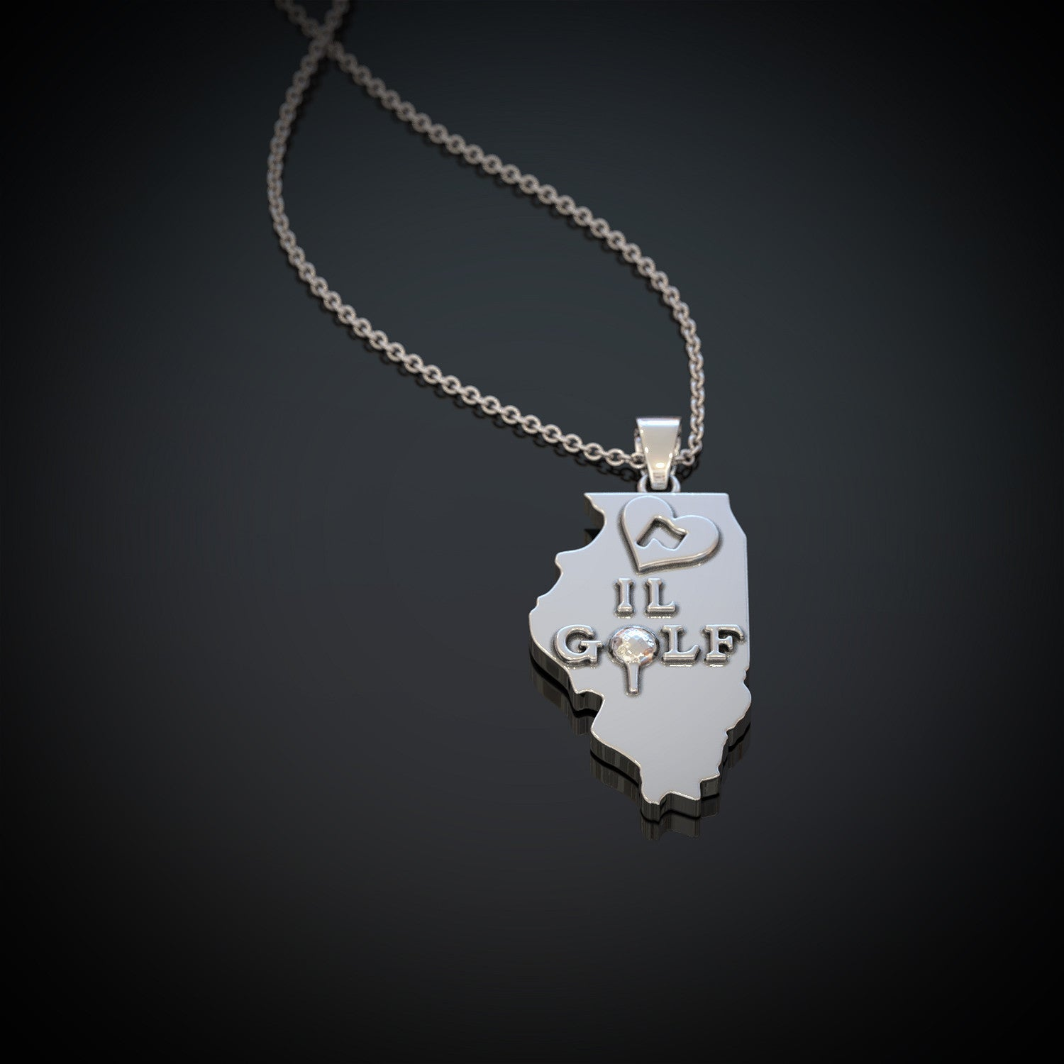 Love IL Golf Necklace