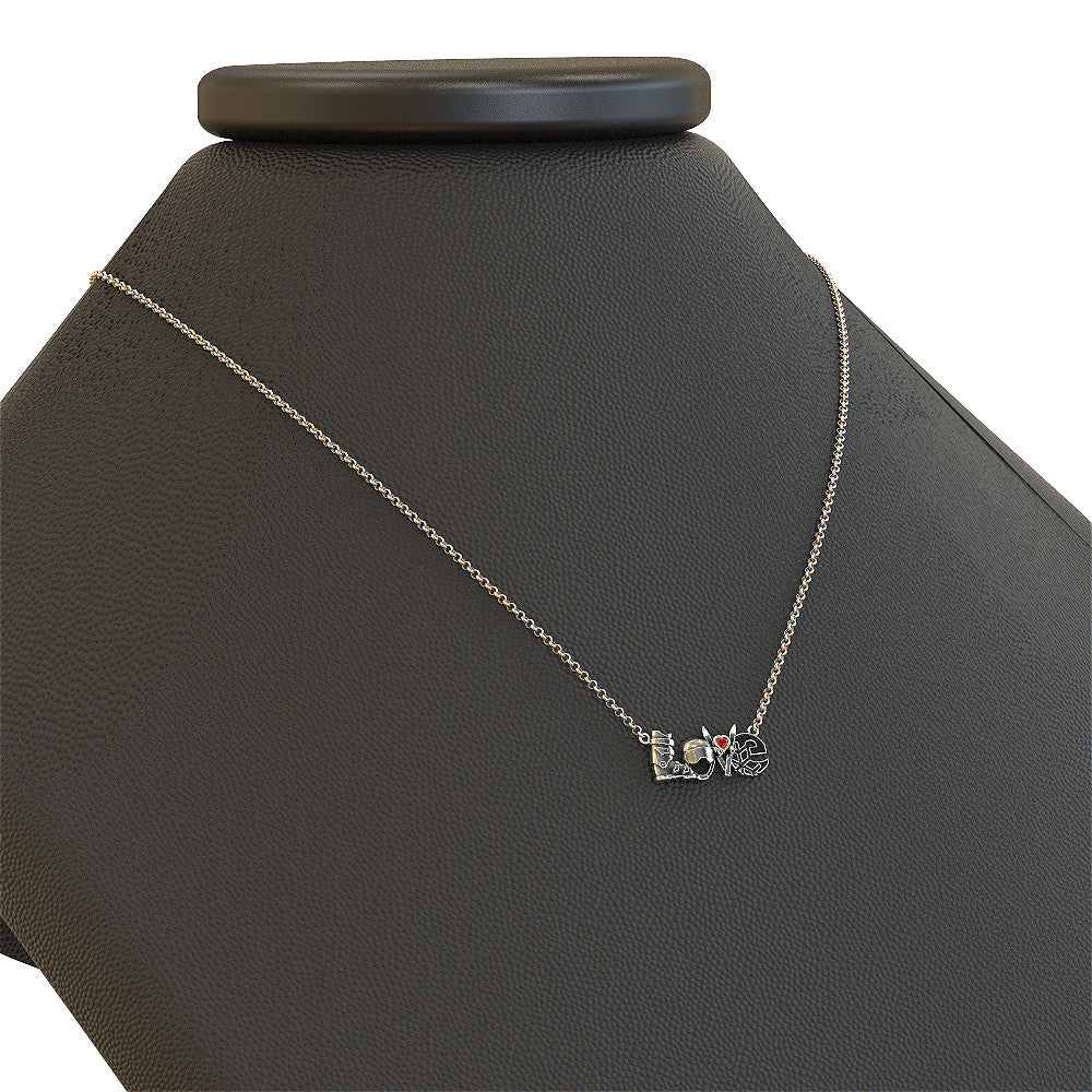 LOVE - Ski Birthstone Necklace