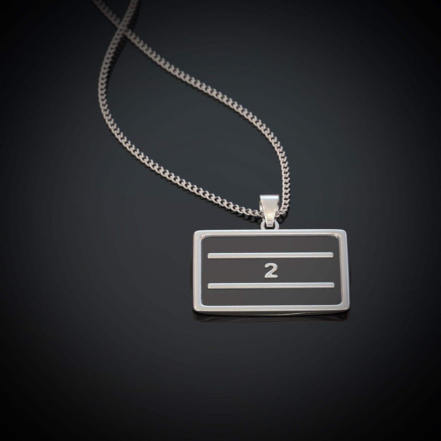 2nd Amendment Gun Rights Flag Necklace