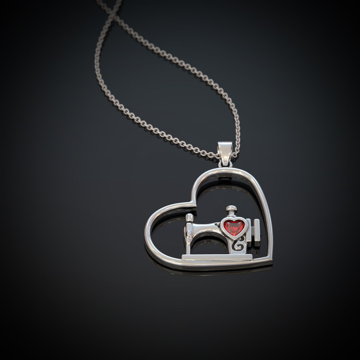 Heart Sewing Necklace