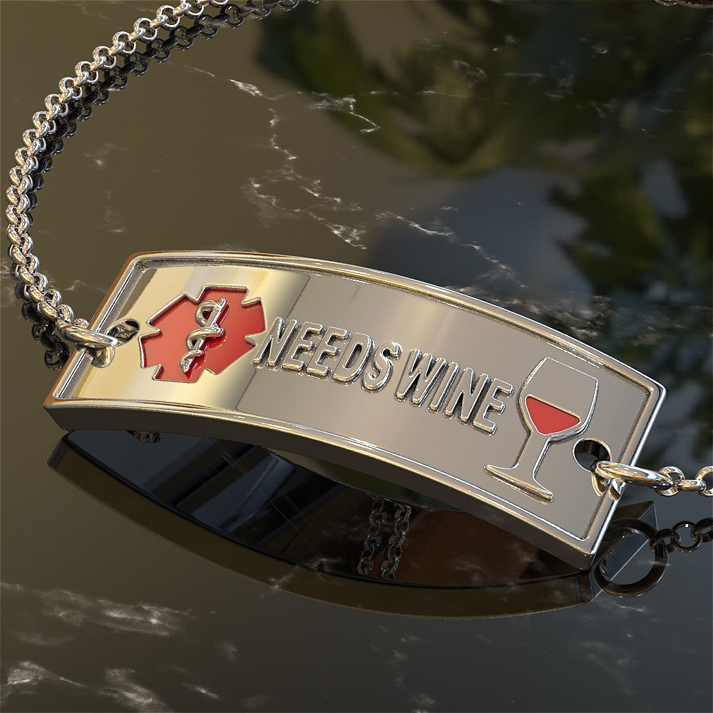 Medical Alert Bracelet - Needs Wine