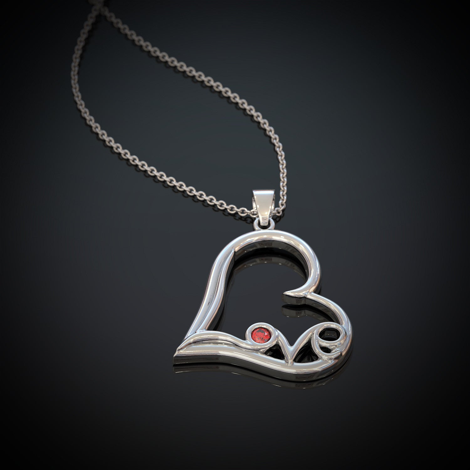 Love Heart Pendant Necklace for Women