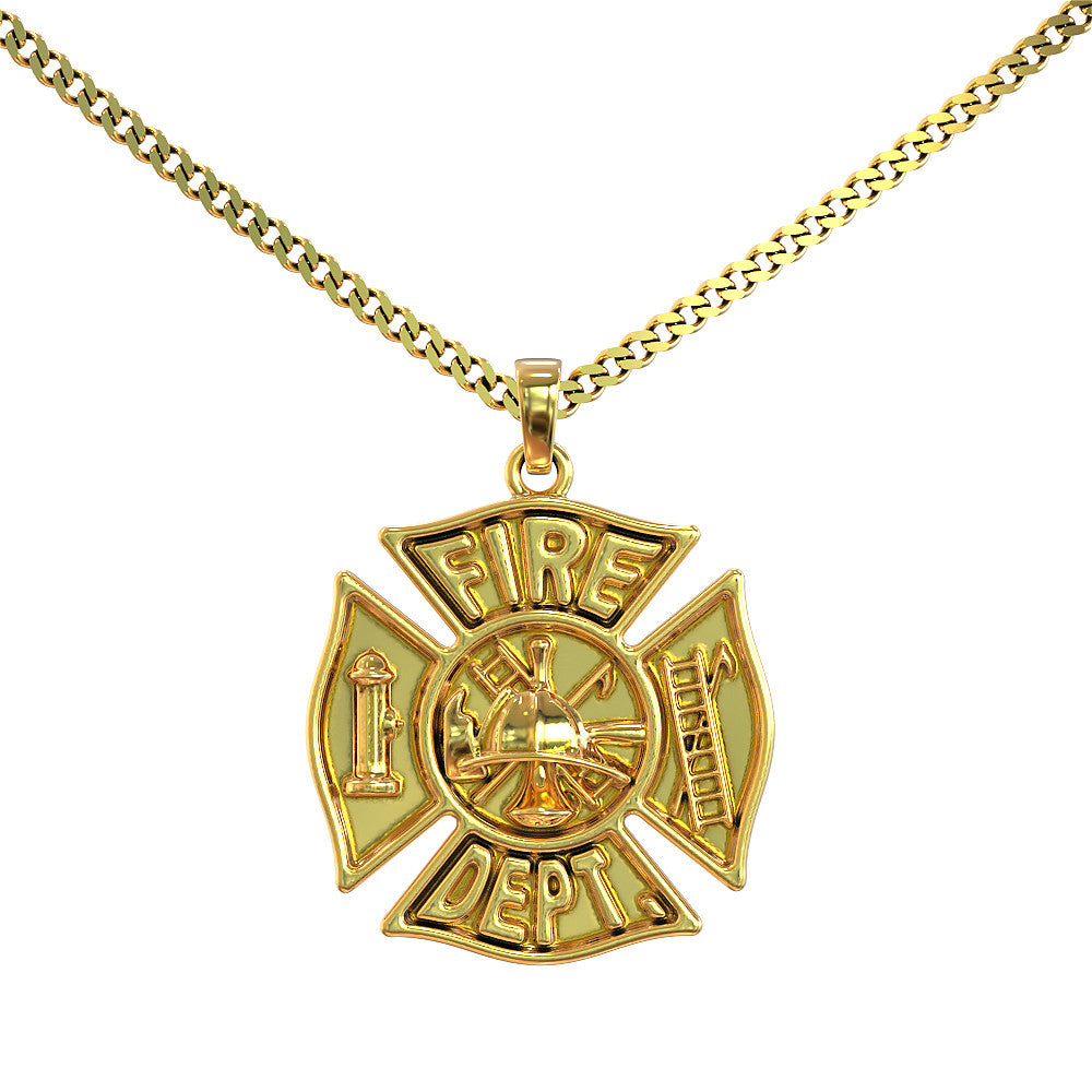 Firefighter maltese cross pendant shineon firefighter maltese cross pendant aloadofball Image collections