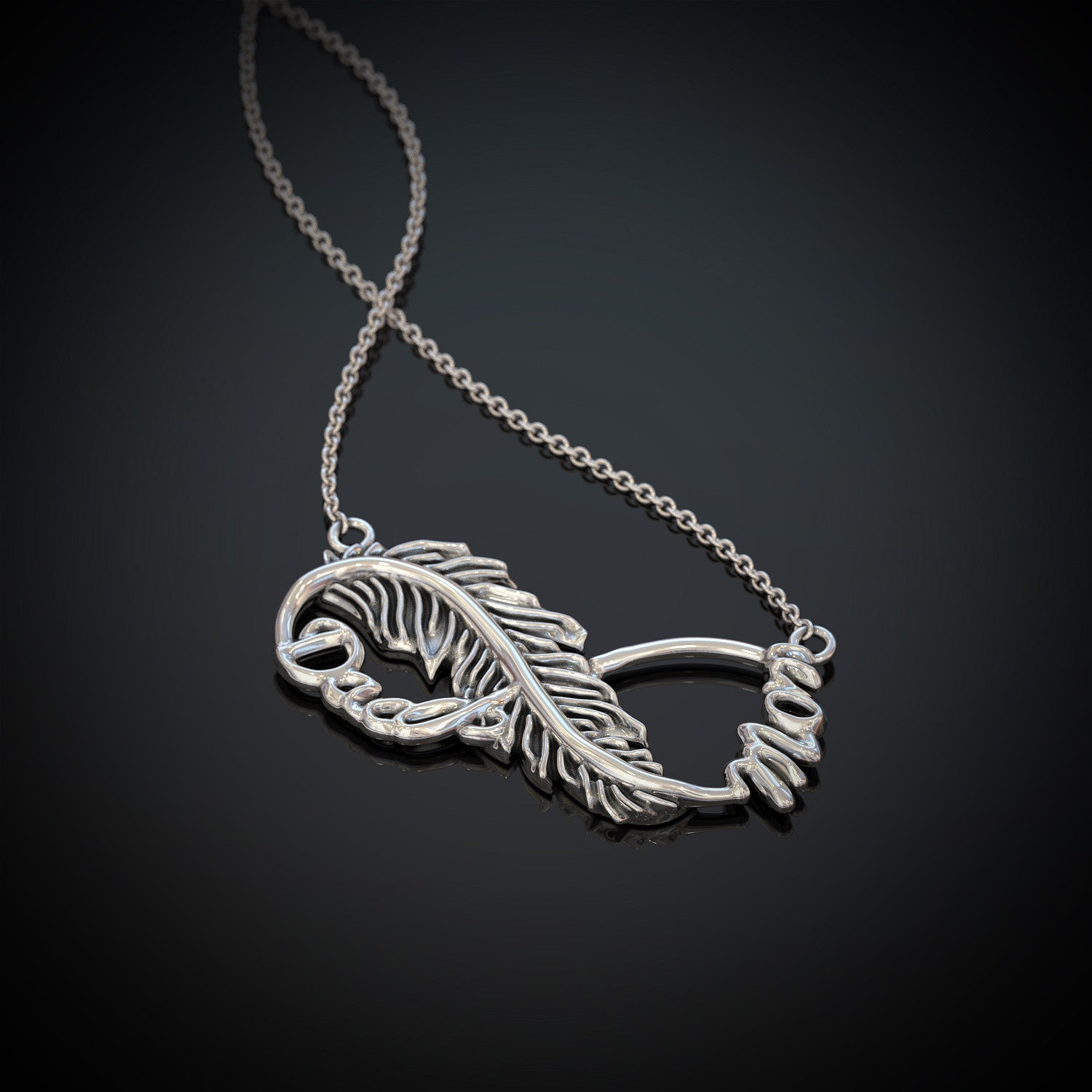 Feather Infinity Necklace