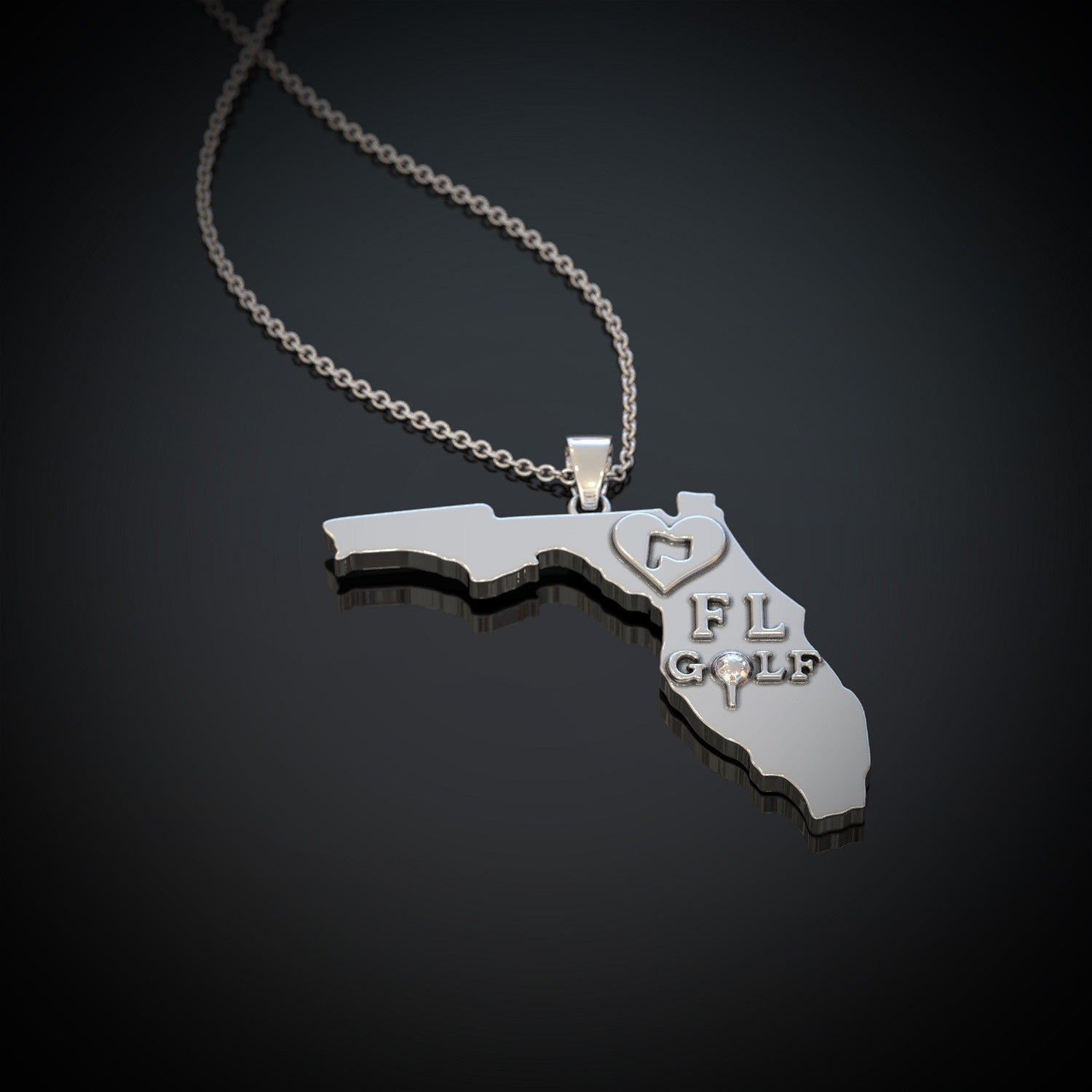 Love FL Golf Necklace