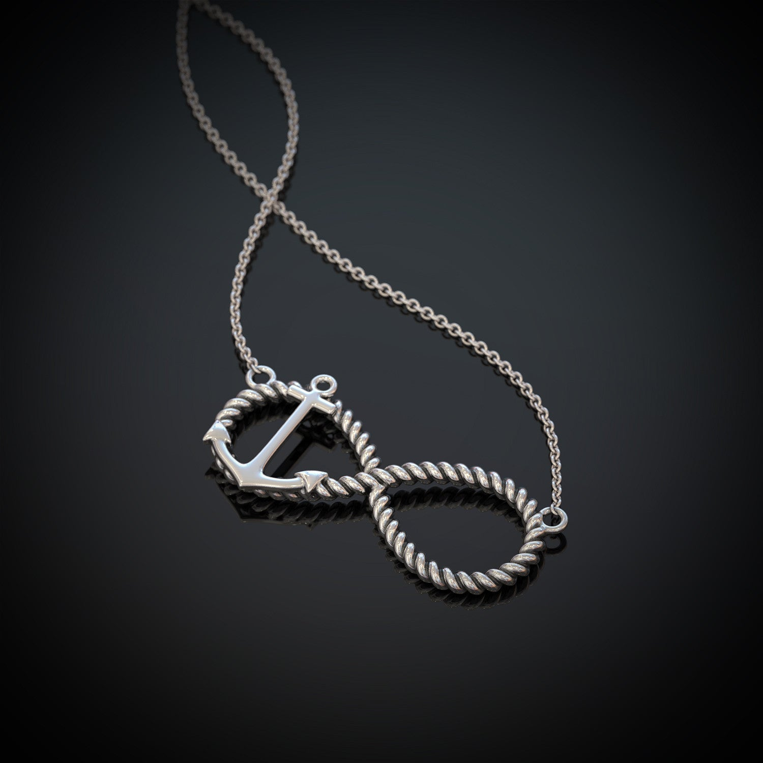 Infinity Rope Anchor Necklace