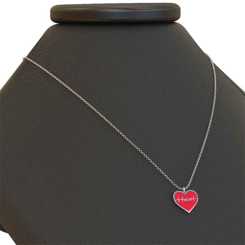 Heart Beat Wine Necklace