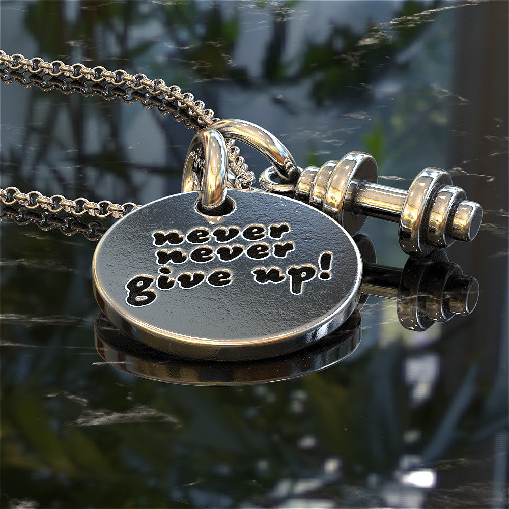 Never Give Up Pendant