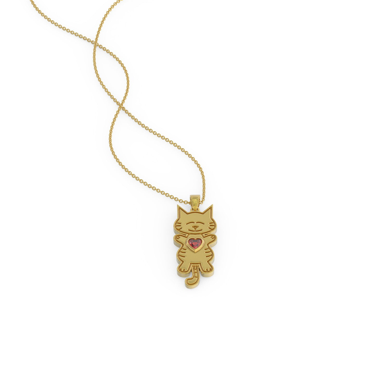 Love Tiger Kitty Necklace