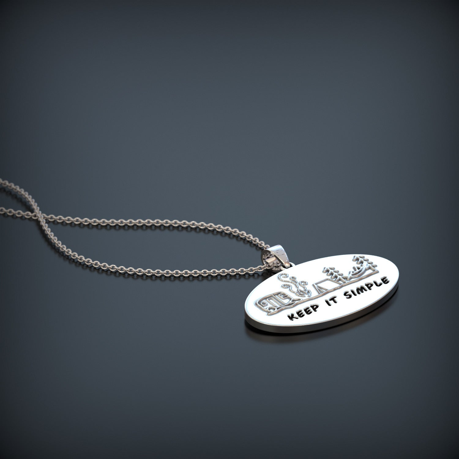 Camping - Keep It Simple Necklace
