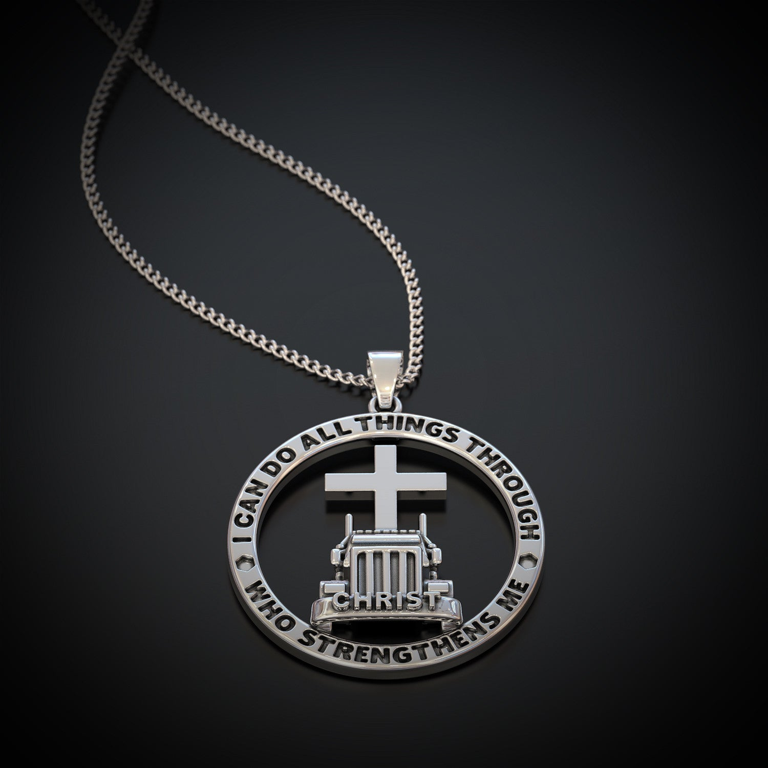 Trucker Necklace All Things Through Christ