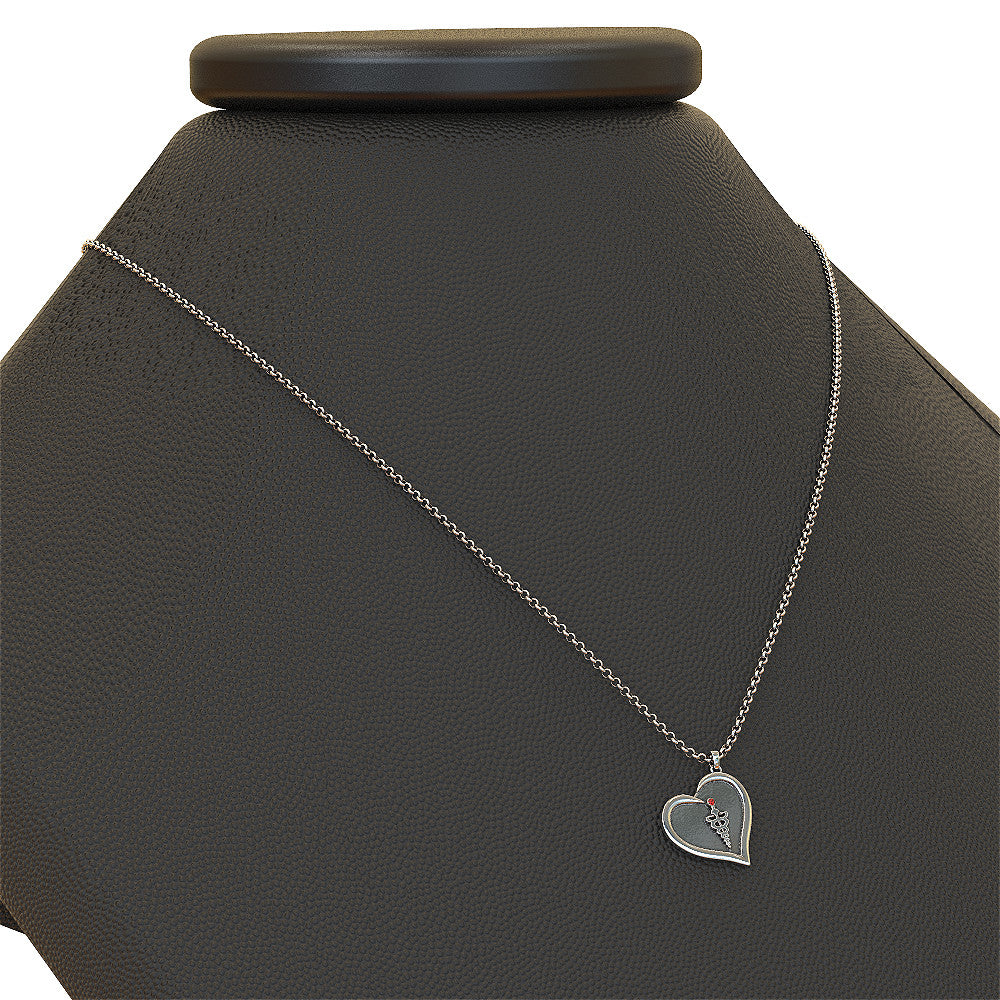 RN Nurse Crystal Necklace (.925 silver)