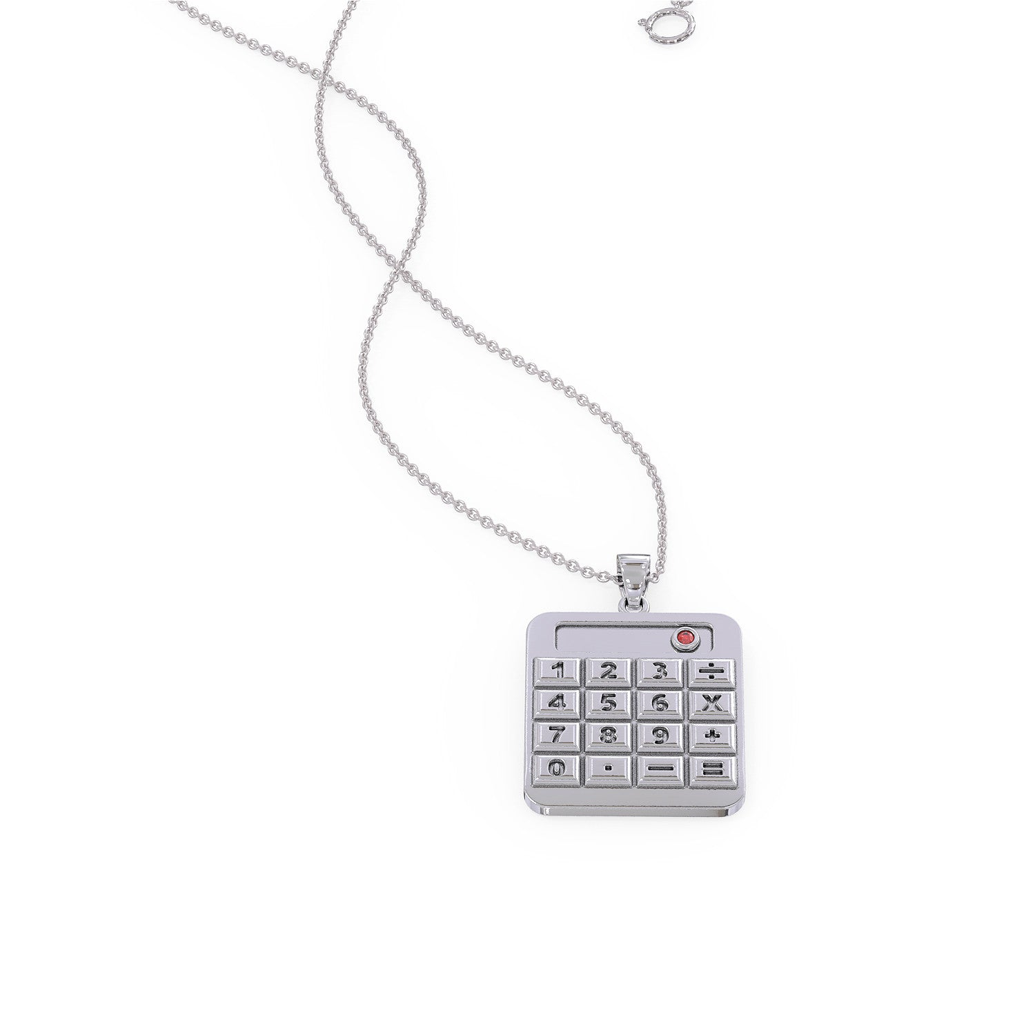Accountant Birthstone Calculator Necklace