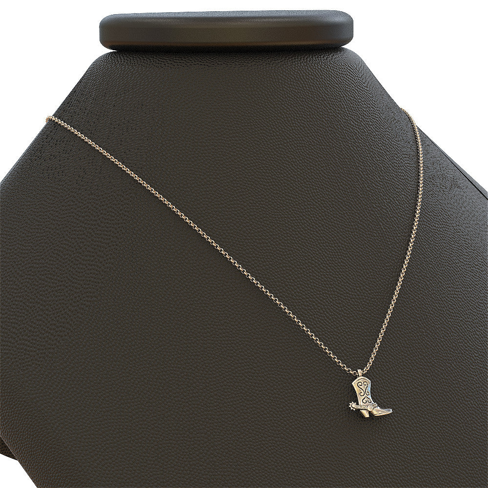 Cow Girl Boot Necklace