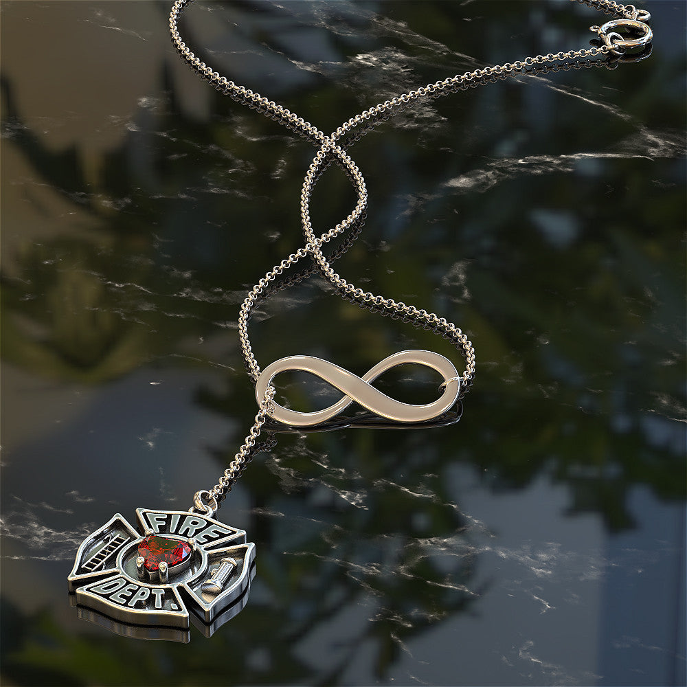 Love Fire Dept Necklace