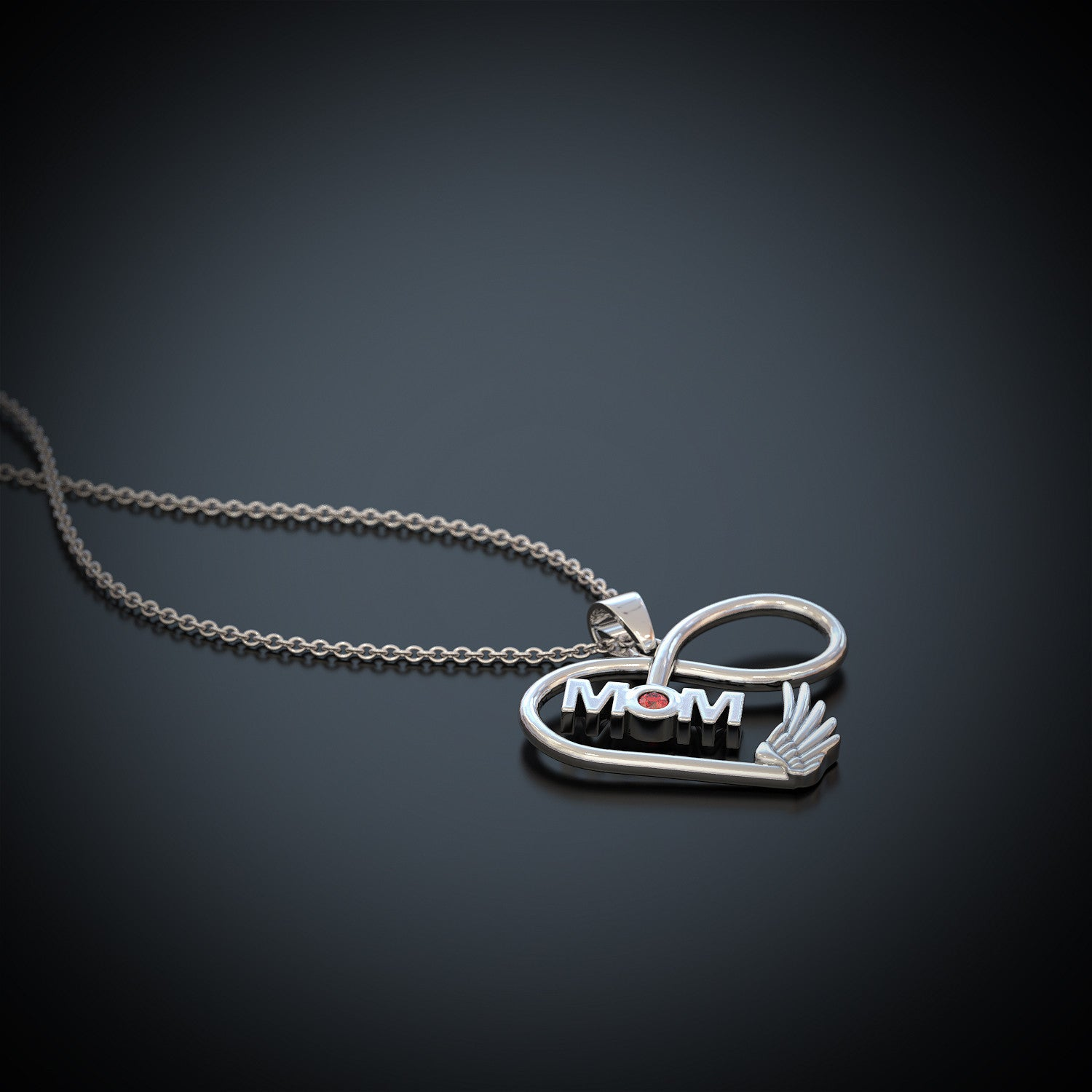 Mom Infinity Birthstone Necklace