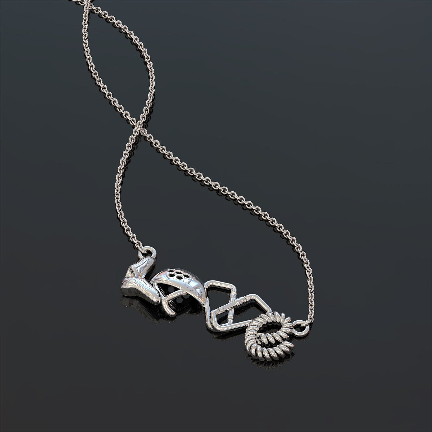 Rock Climbing Love Necklace