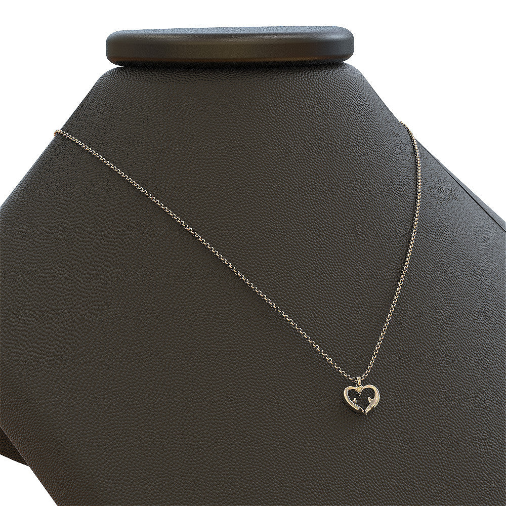 Dolphin Heart Pendant - STRICTLY LIMITED