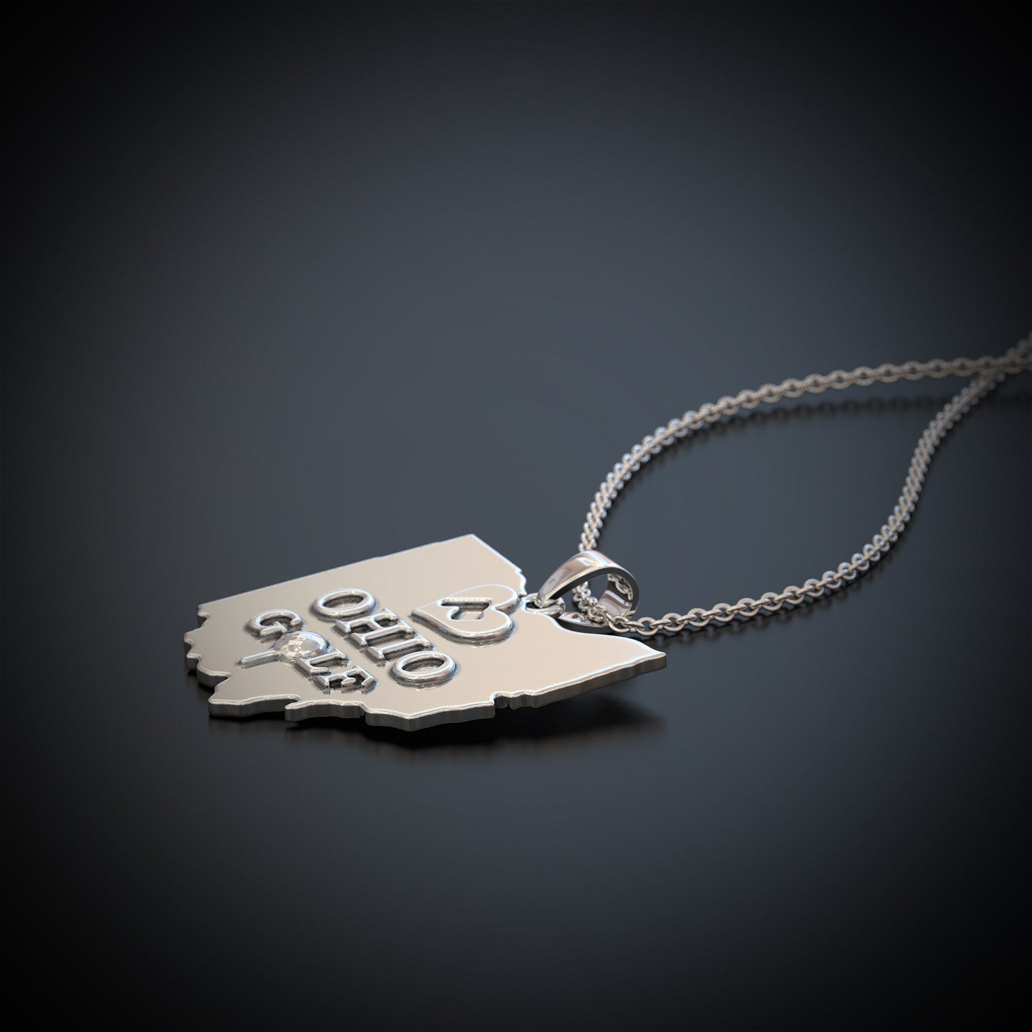 Love Ohio Golf Necklace