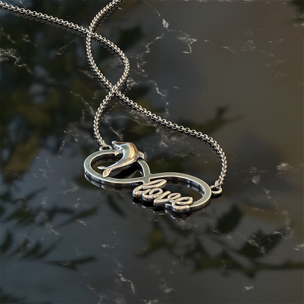 Infinity Dolphin Love Necklace