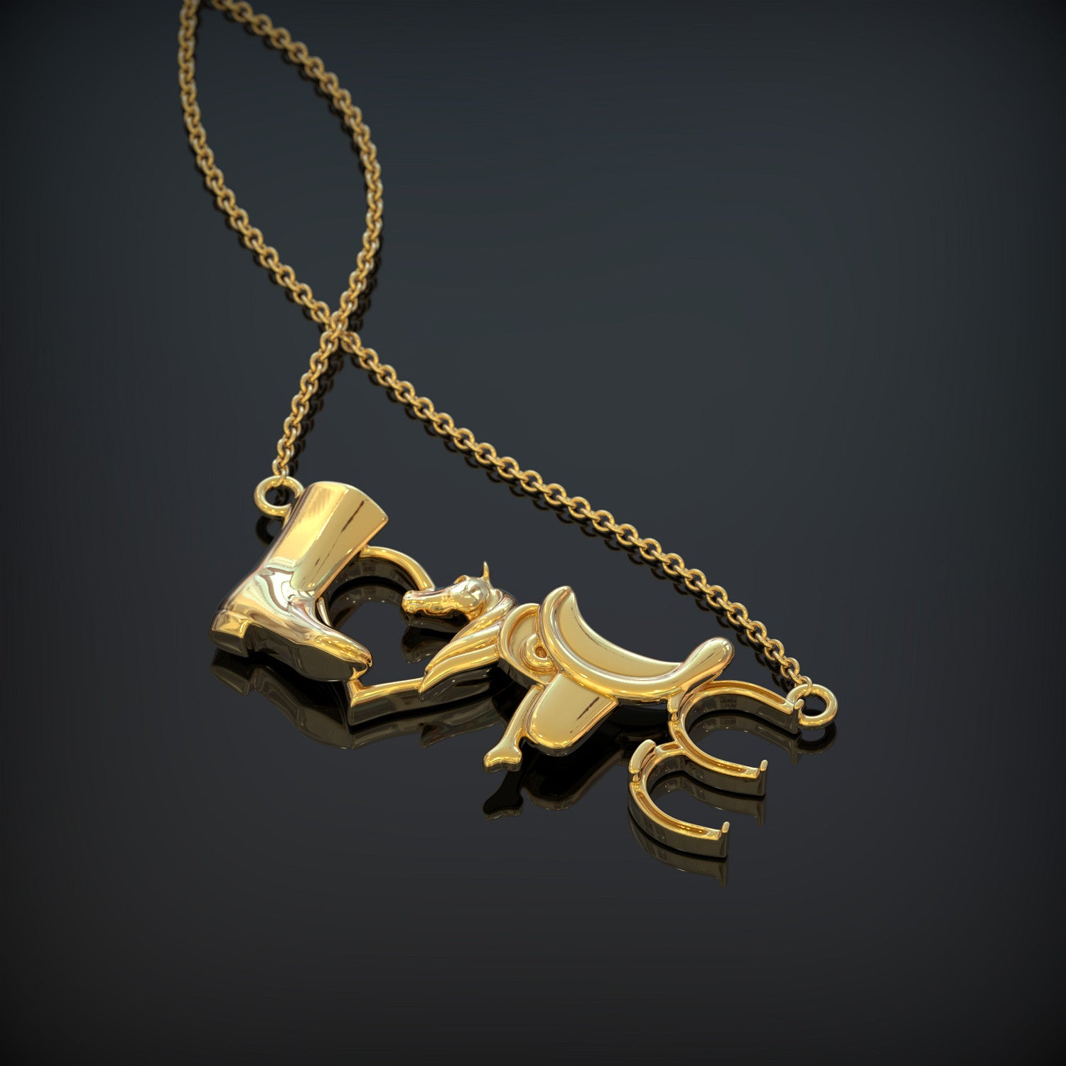 LOVE - Horse Riding Necklace