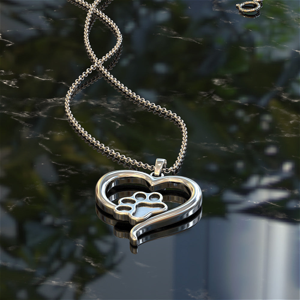Paws in my Heart Pendant