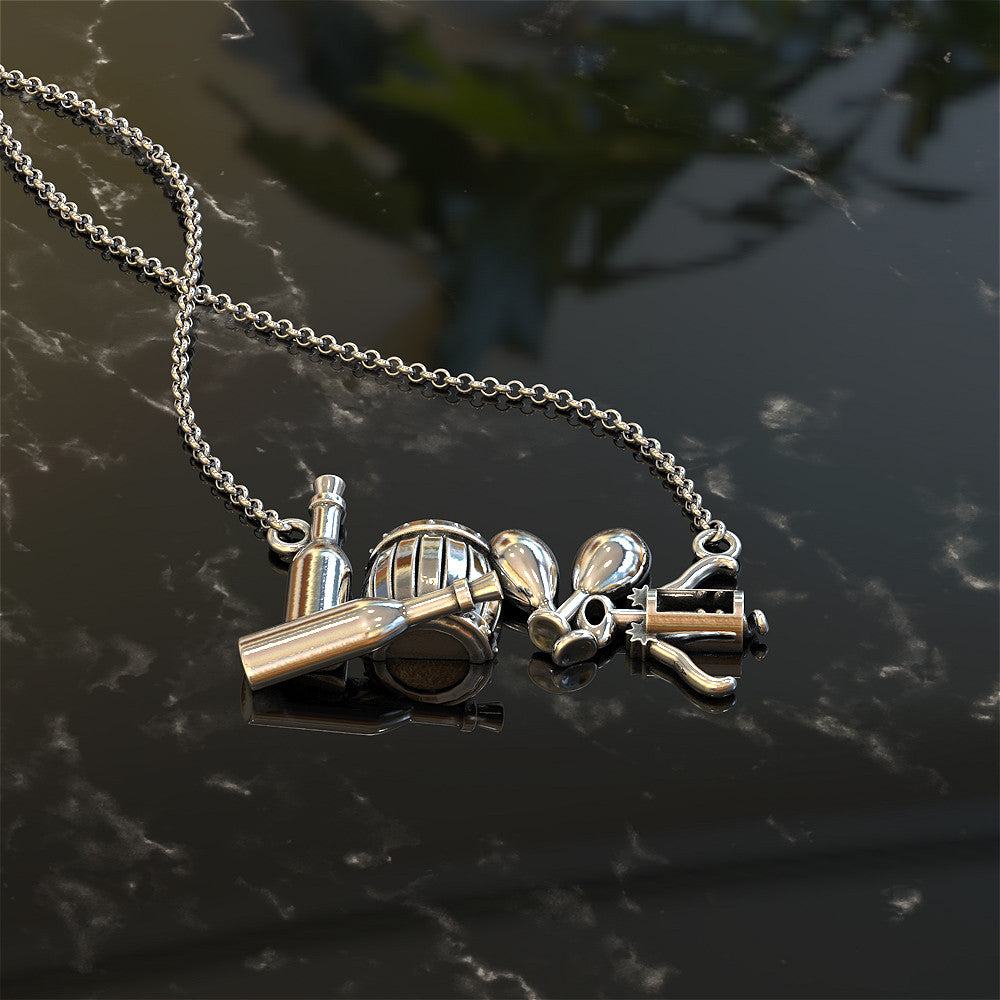 "The Wine Lover's ""Love"" Necklace"