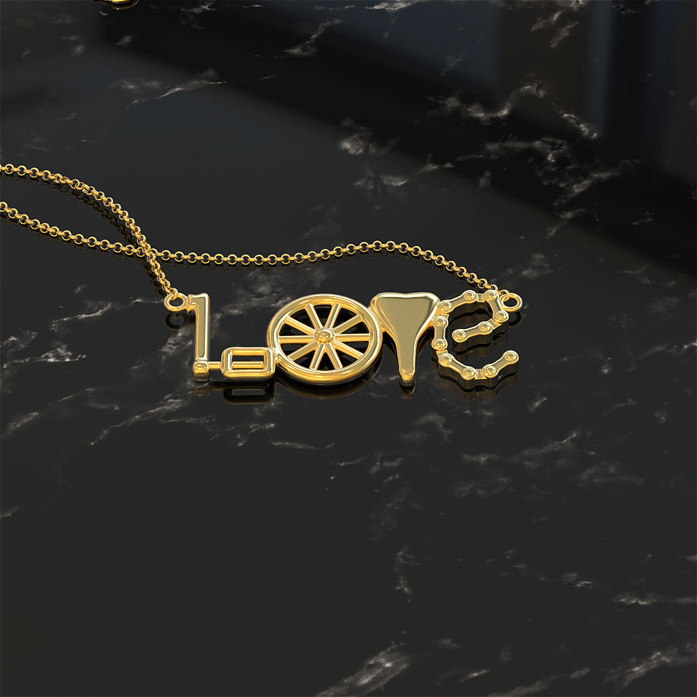 Cycling Love Necklace