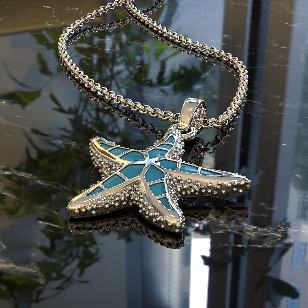 Tropical Starfish Pendant