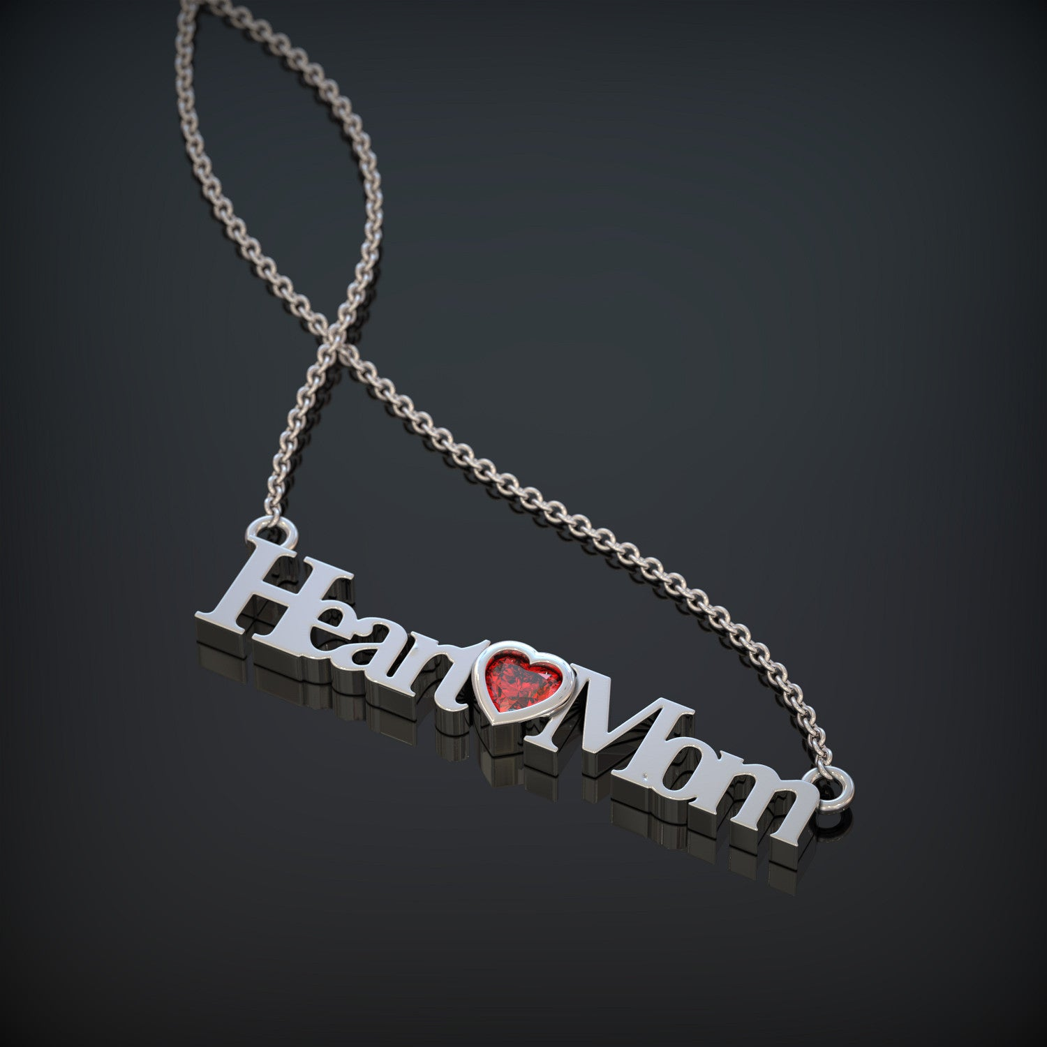 CHD Heart Mom Birthstone Necklace