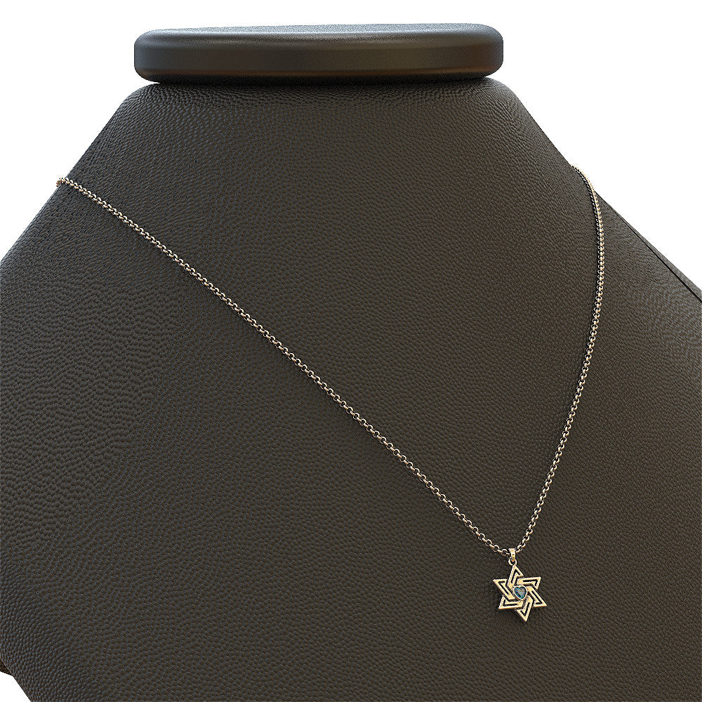 Woven Star of David Necklace
