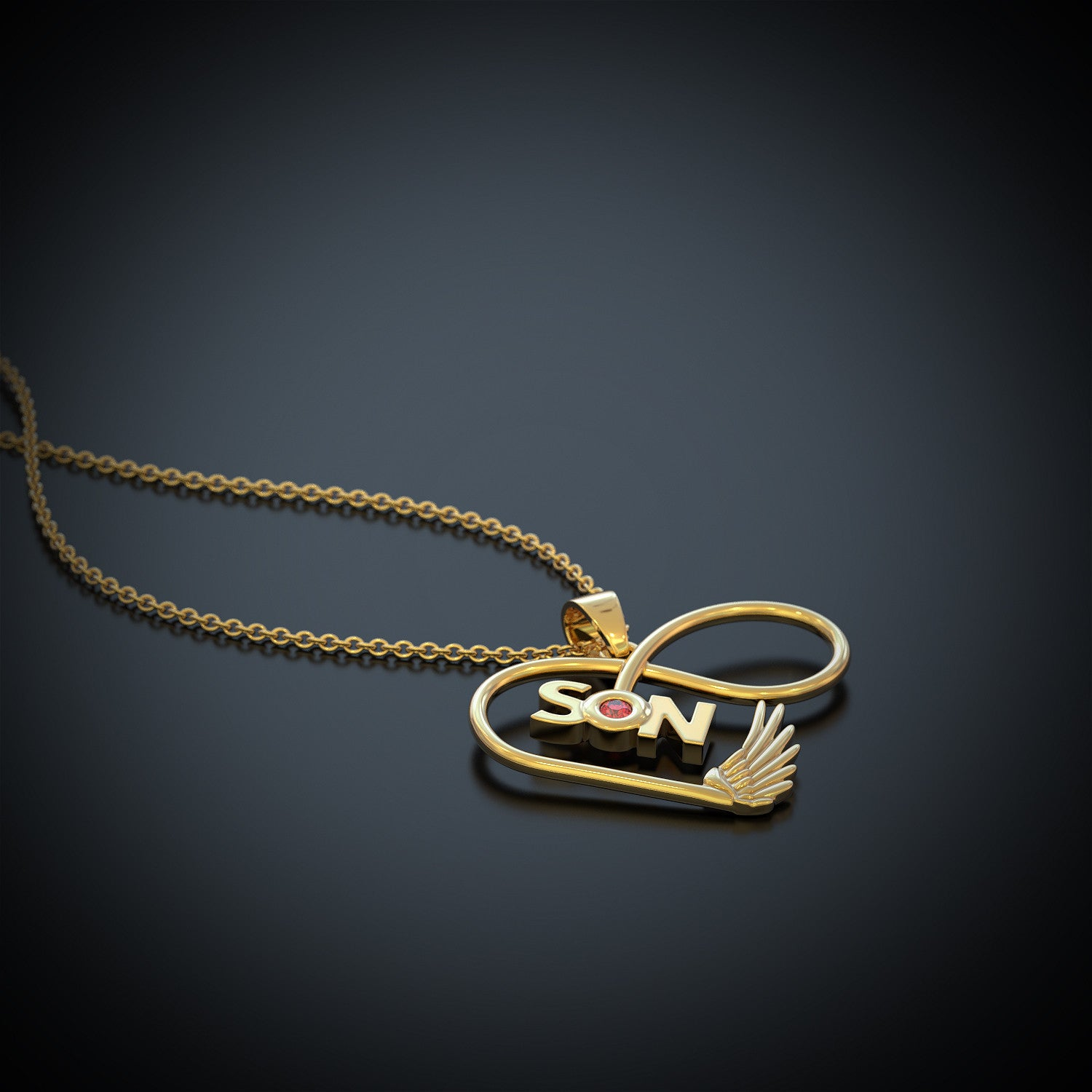 Son Infinity Birthstone Necklace