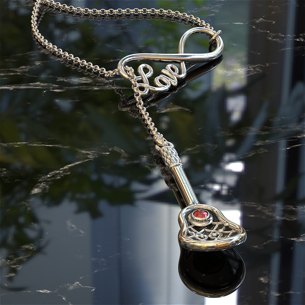 Infinity Lacrosse Necklace