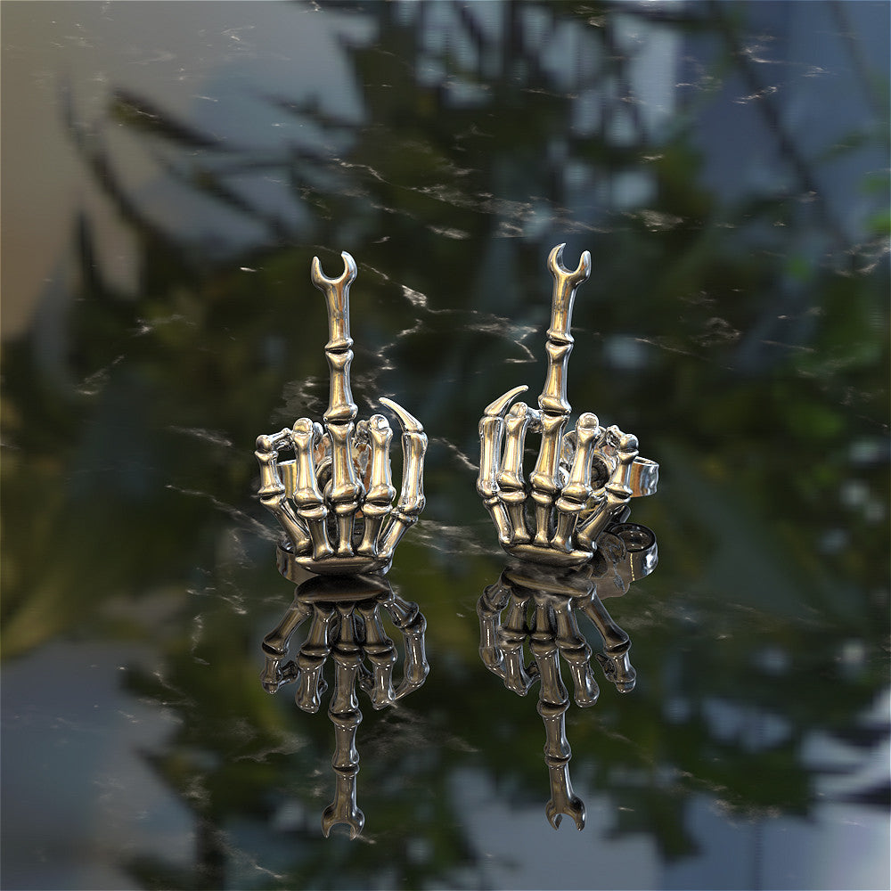 Middle Finger Wrench Earrings