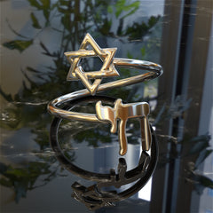 Star of David with Chai Symbol Ring