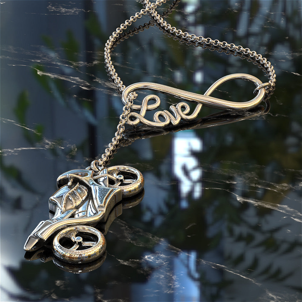 Sportbike Love Necklace