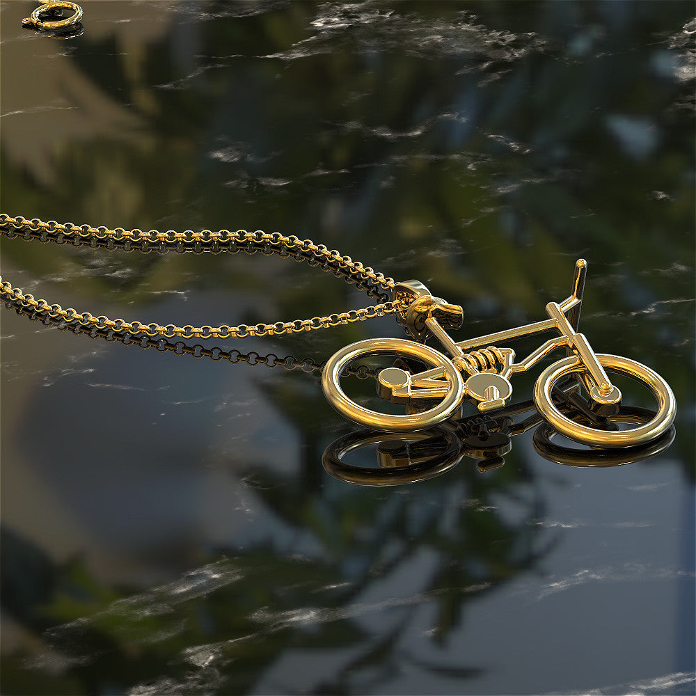 Downhill Mountain Bike Pendant - STRICTLY LIMITED EDITION