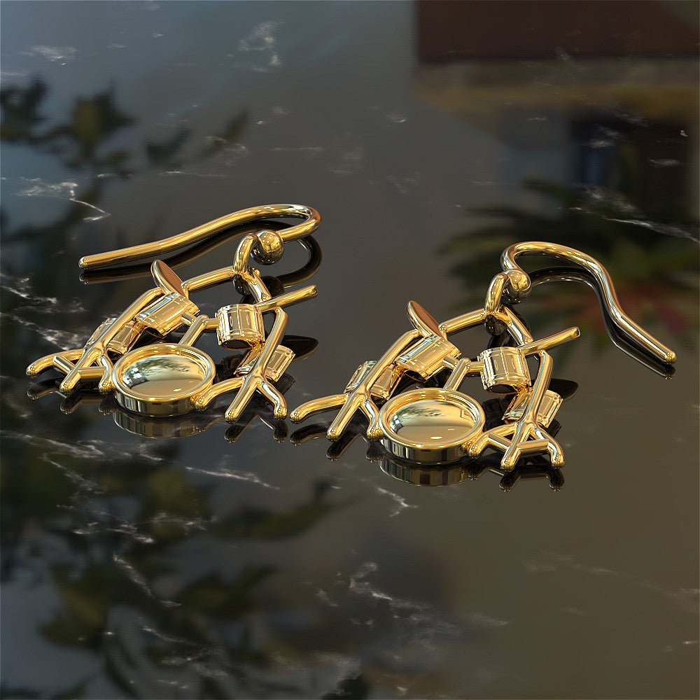 Drummer Earrings