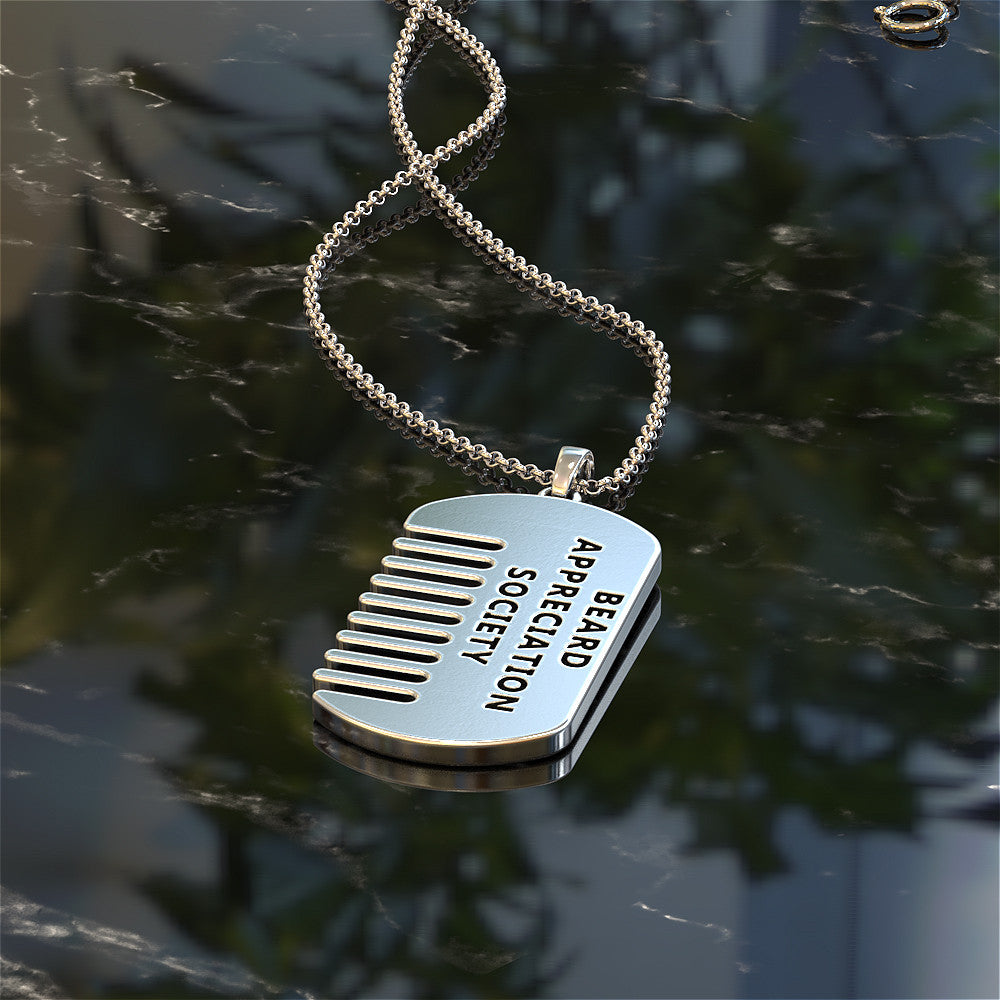 Beard Comb Dog Tag - STRICTLY LIMITED EDITION