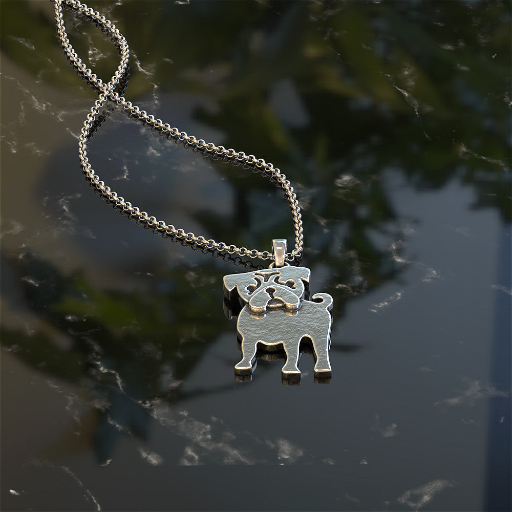 Tiny Pug Necklace