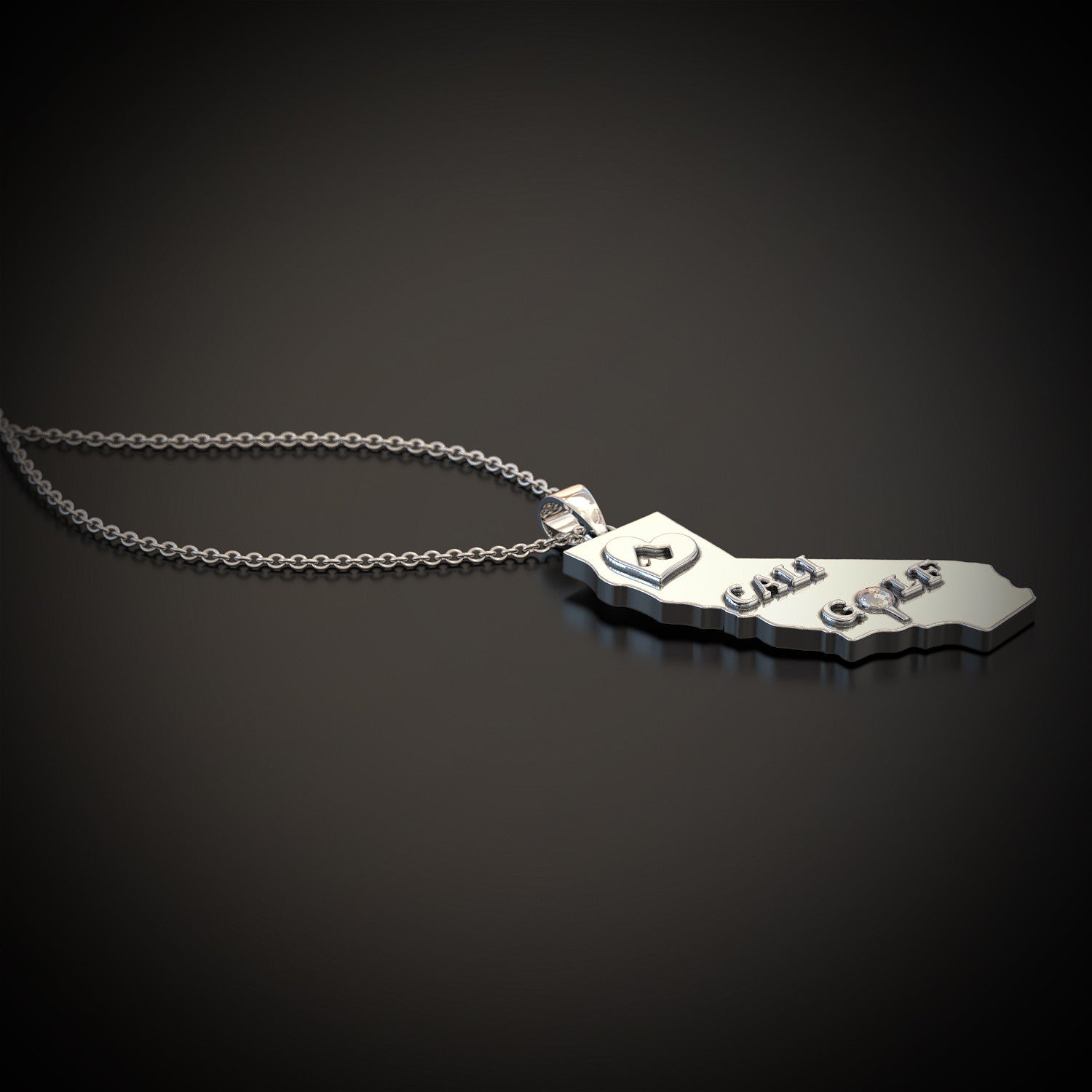 Love CA Golf Necklace