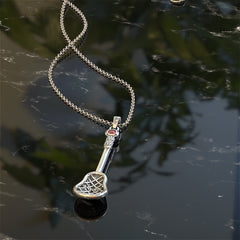 Personalised Birthstone - Lacrosse Necklace - STRICTLY LIMITED EDITION