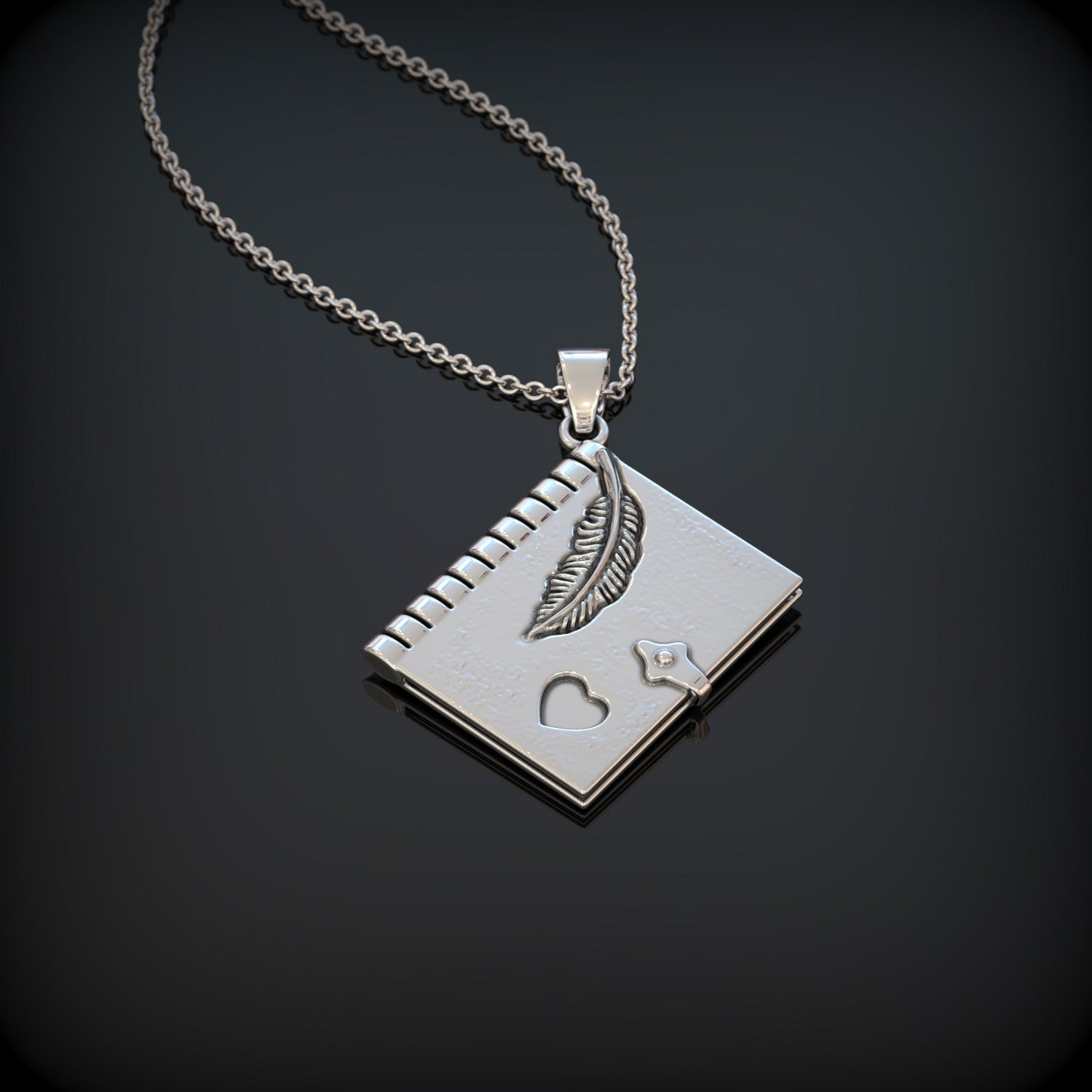 Heart Books Necklace