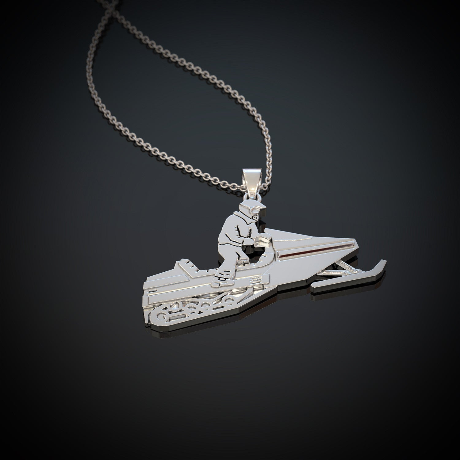 Snowmobile Jump Necklace