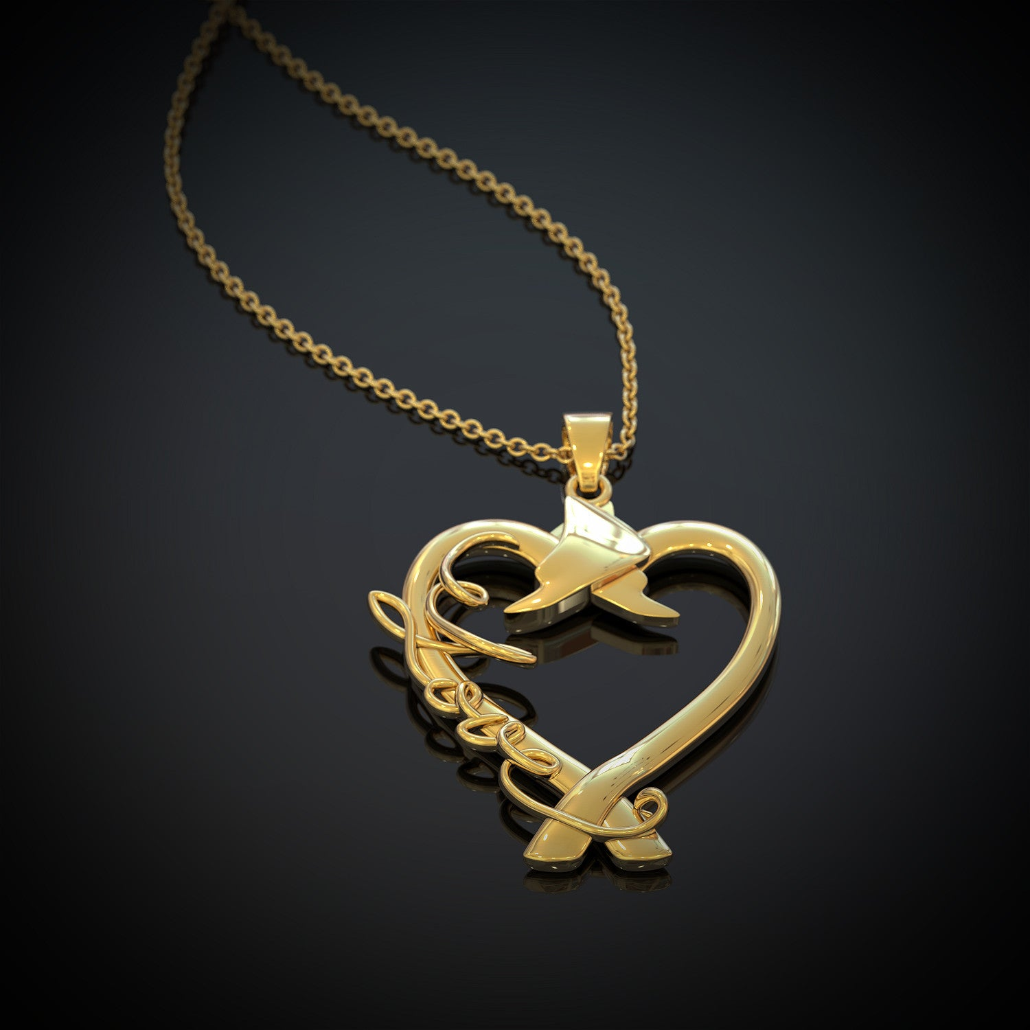 Heart of a Firefighter Necklace