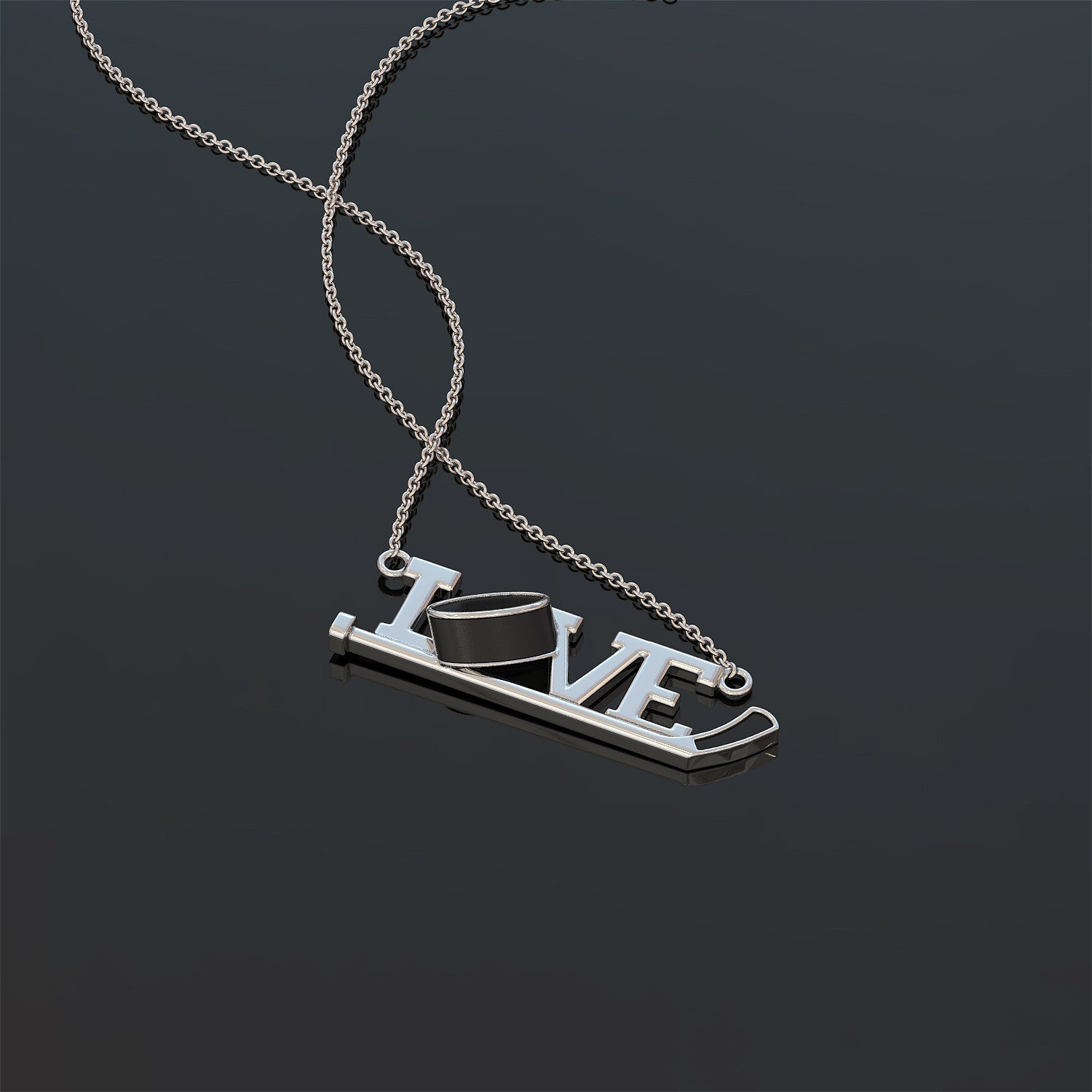 Love Hockey Necklace