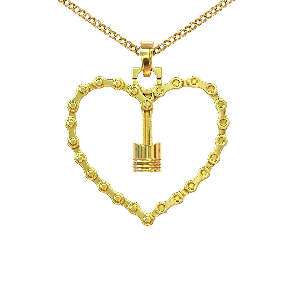 Piston Love Necklace