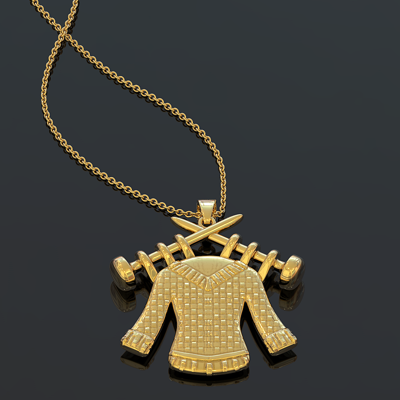 Knitting Pendant