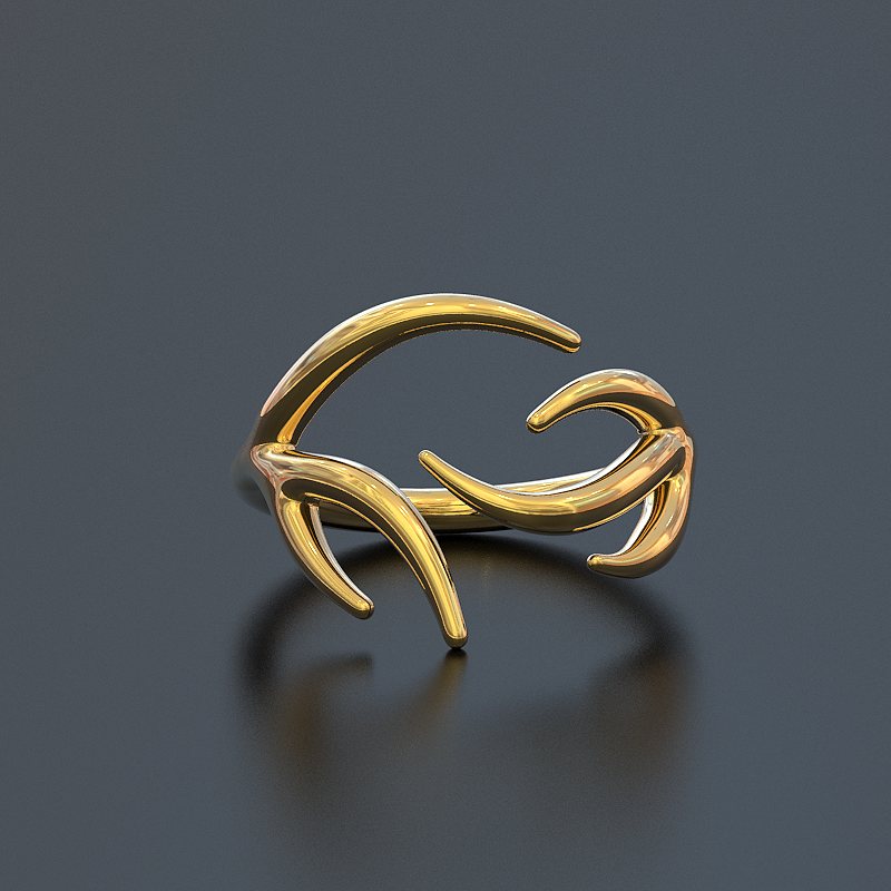 Limited Edition Deer Antler Ring